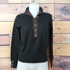 Franco Valeri sweater black with brown accents